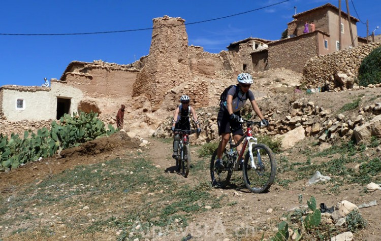 biking activity in the heart of Atlas Mountains as well as the south of the country